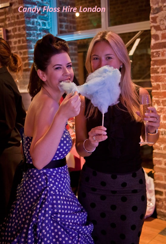 Blue Raspberry Candy Floss Hire London